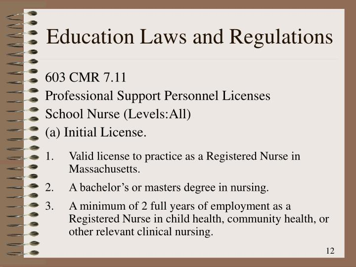Education Laws and Regulations