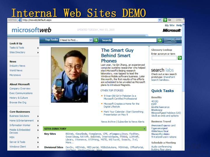 Internal Web Sites DEMO