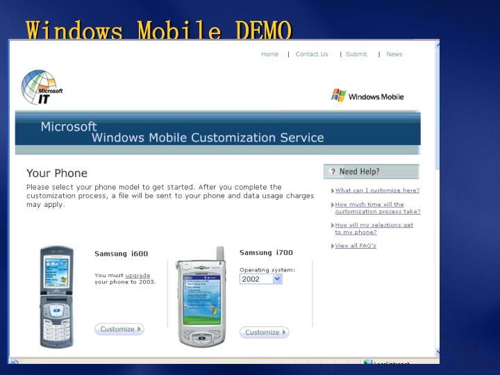 Windows Mobile DEMO