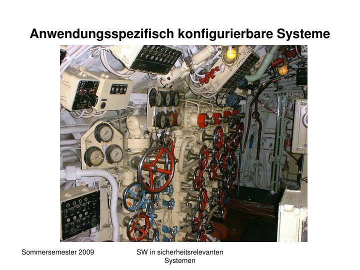 Anwendungsspezifisch konfigurierbare Systeme