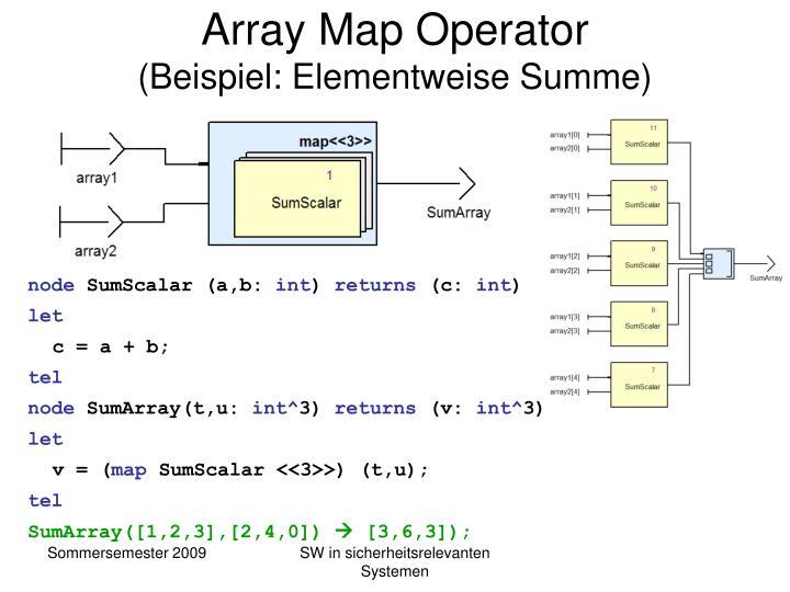 Array Map Operator
