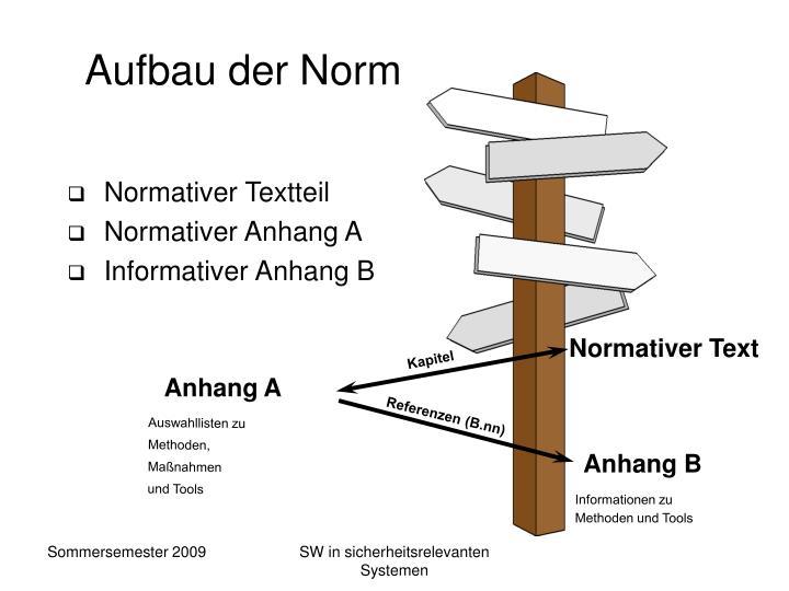 Aufbau der Norm