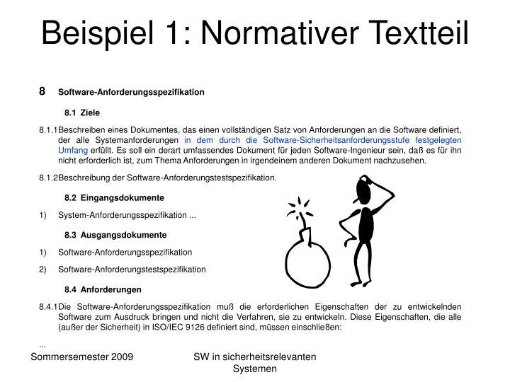 Beispiel 1: Normativer Textteil