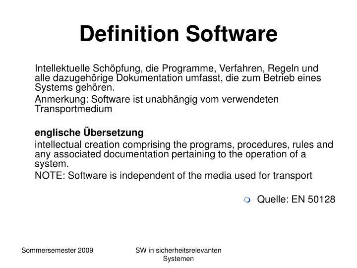 Definition Software