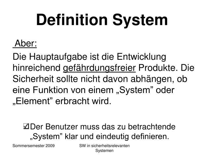 Definition System