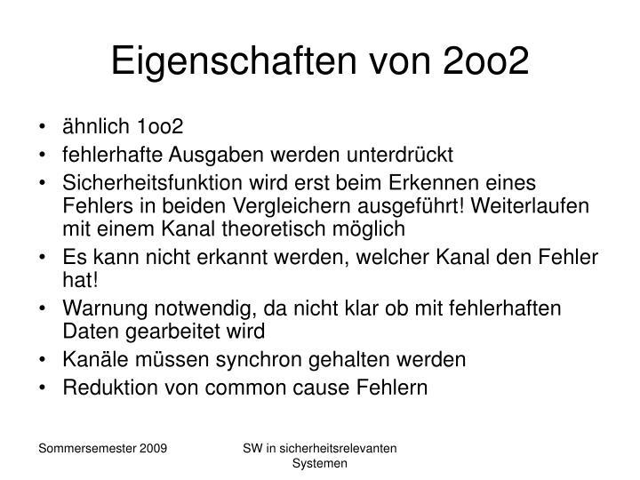 Eigenschaften von 2oo2