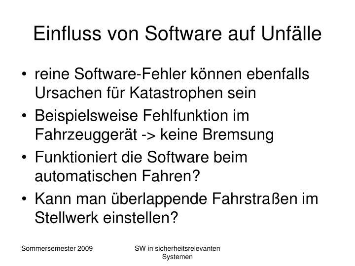 Einfluss von Software auf Unfälle