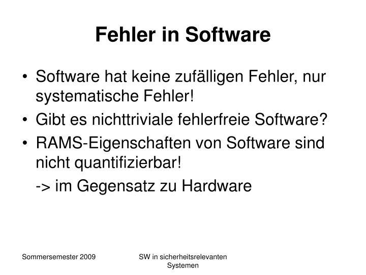 Fehler in Software