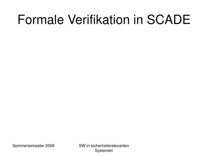Formale Verifikation in SCADE