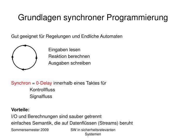 Grundlagen synchroner Programmierung