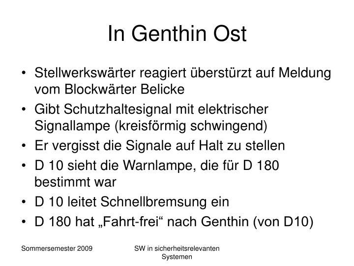 In Genthin Ost