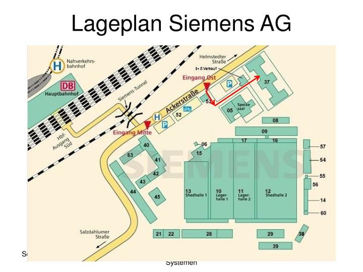 Lageplan Siemens AG