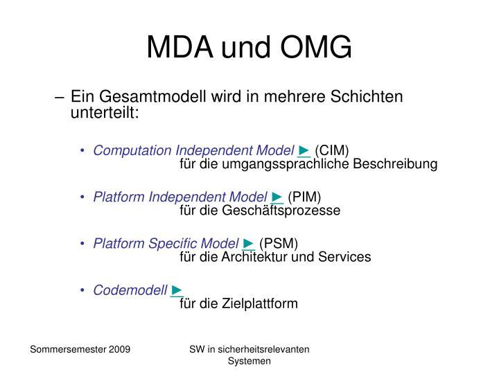 MDA und OMG