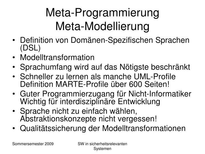 Meta-Programmierung