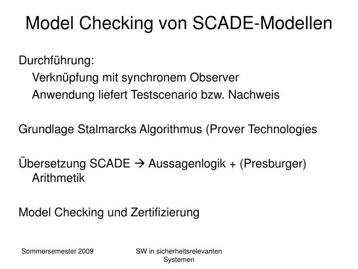 Model Checking von SCADE-Modellen