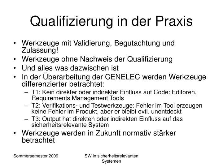 Qualifizierung in der Praxis