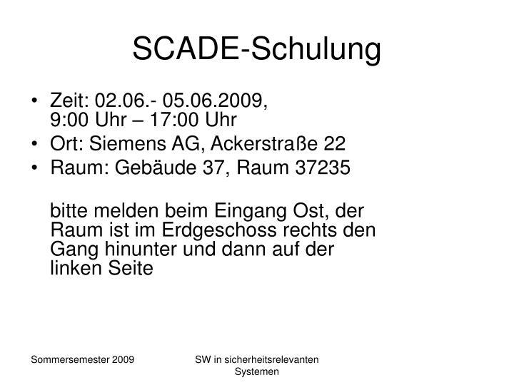 SCADE-Schulung