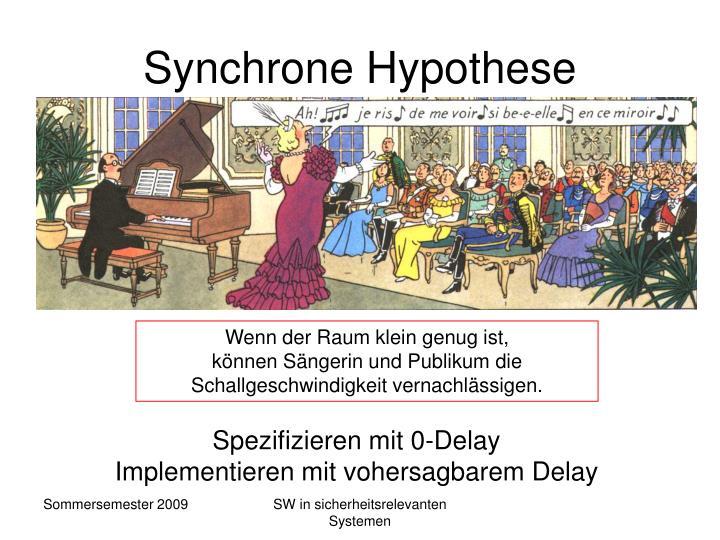 Synchrone Hypothese