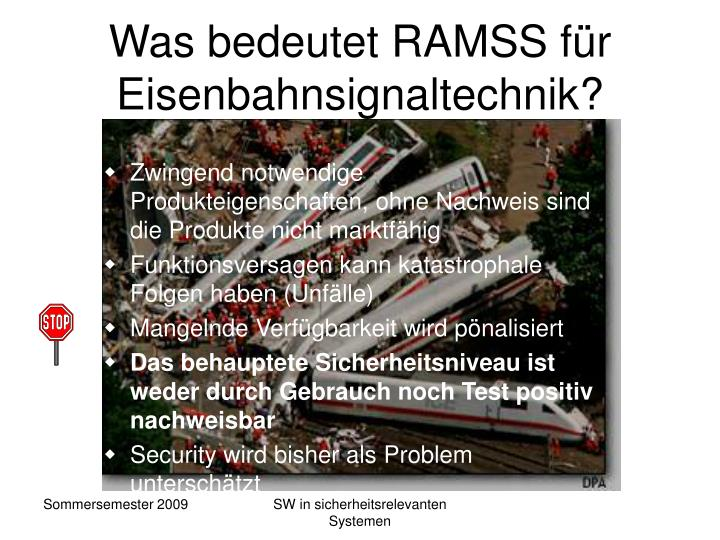 Was bedeutet RAMSS für Eisenbahnsignaltechnik?