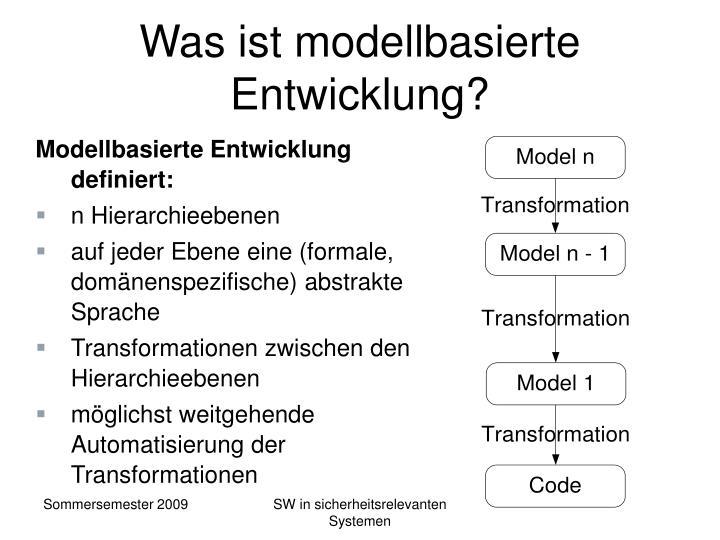 Was ist modellbasierte Entwicklung?