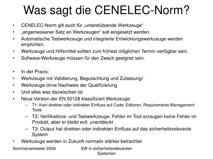 Was sagt die CENELEC-Norm?