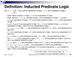 definition inducted predicate logic