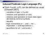 induced predicate logic language fl