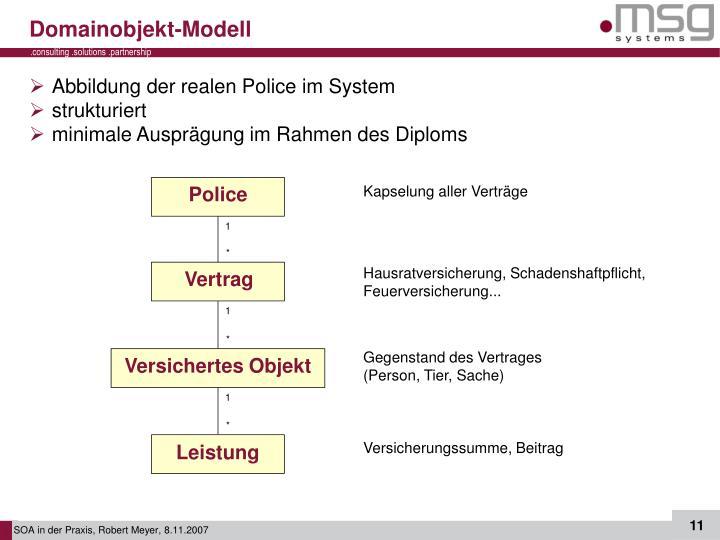 Domainobjekt-Modell