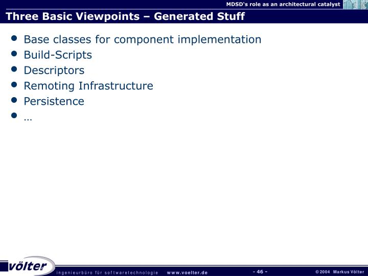 Three Basic Viewpoints – Generated Stuff