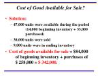 cost of good available for sale