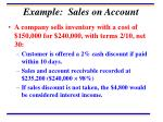 example sales on account