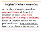 weighted moving average cost