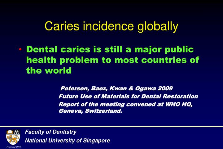 Caries incidence globally