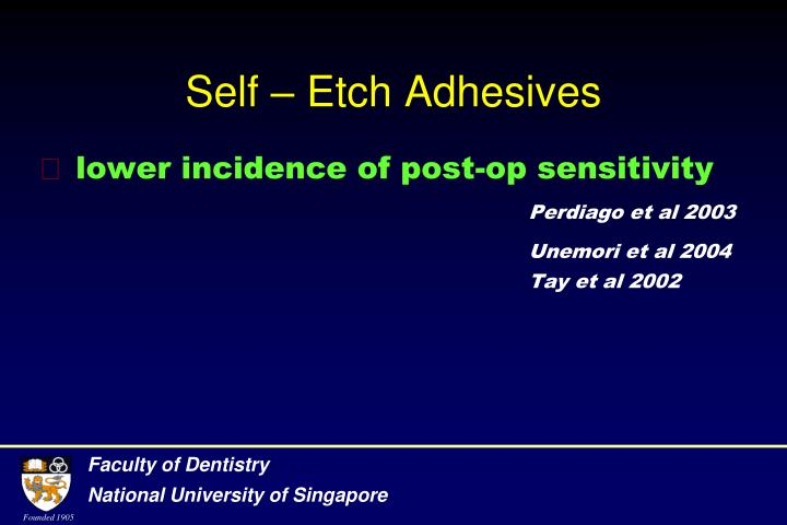 Self – Etch Adhesives