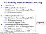 17 planning based on model checking