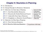 chapter 9 heuristics in planning