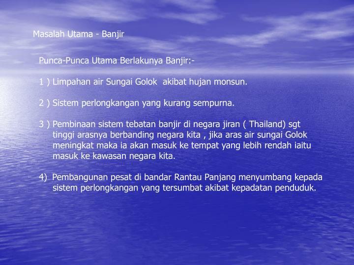 Masalah Utama - Banjir