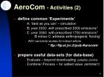 aerocom activities 2