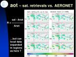 aot sat retrievals vs aeronet