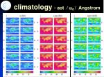 climatology aot w 0 angstrom