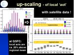 up scaling of local aot