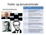 politik og demokratiforl b