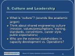 5 culture and leadership