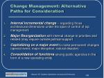 change management alternative paths for consideration