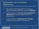 remember our learning objectives