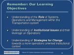 remember our learning objectives1