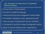 the potential of operations capability maturity model1