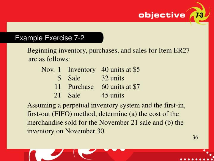 Example Exercise 7-2