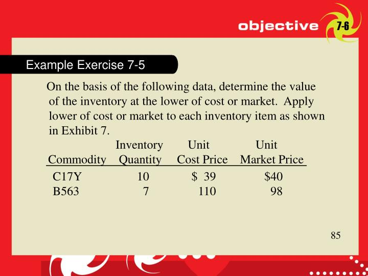 Example Exercise 7-5
