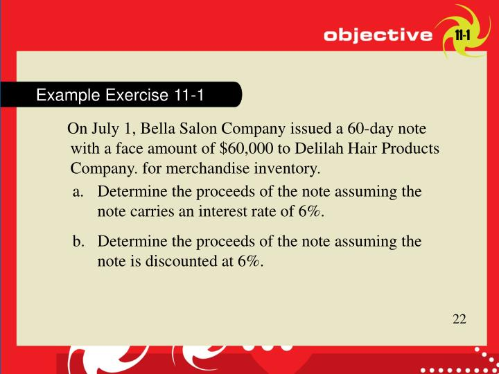 Example Exercise 11-1